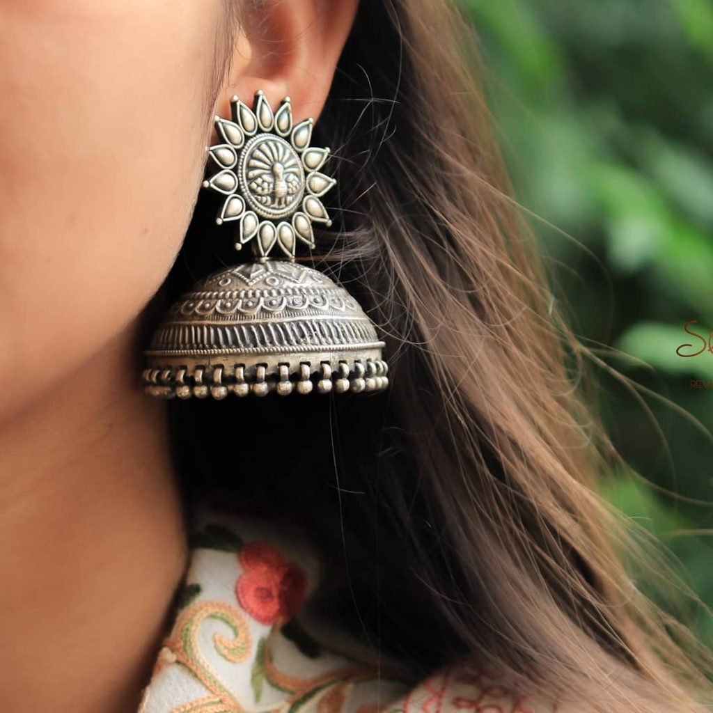silver-jhumka-earrings-design